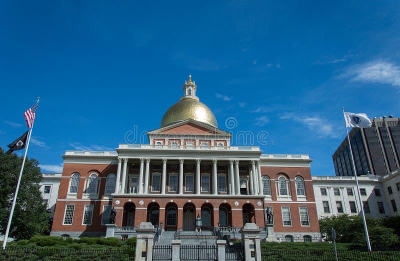 建立资本马萨诸塞状态的波士顿 库存图片