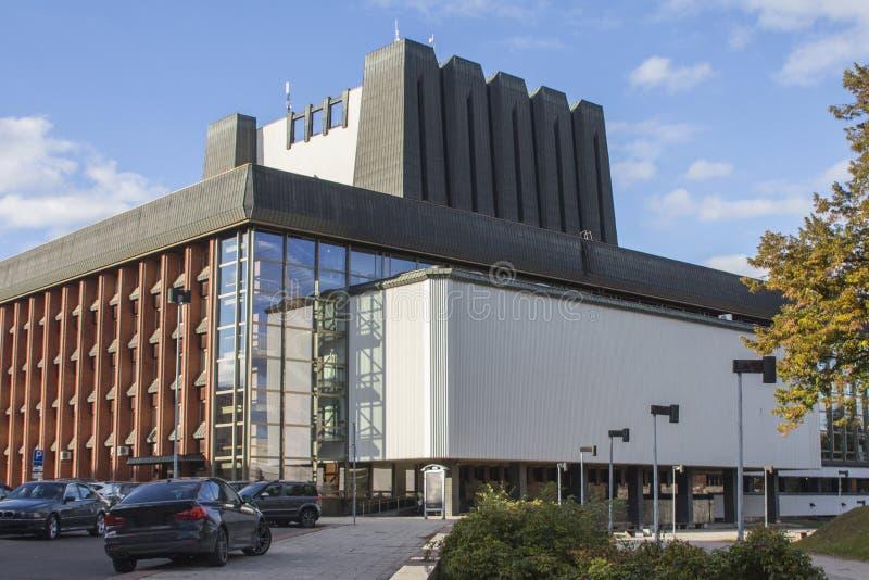 立陶宛国家歌剧院和芭蕾舞团的现代大厦在维尔纽斯 r 库存照片