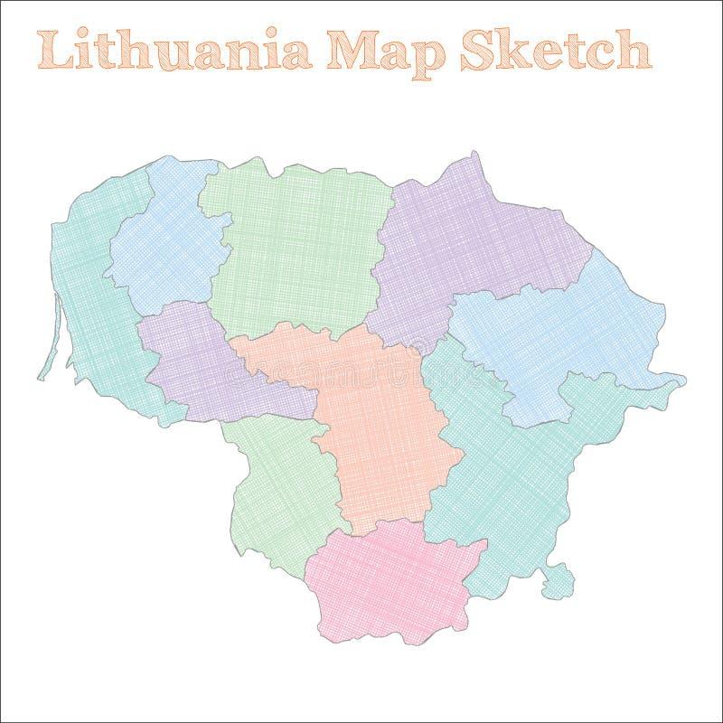 立陶宛地图 皇族释放例证