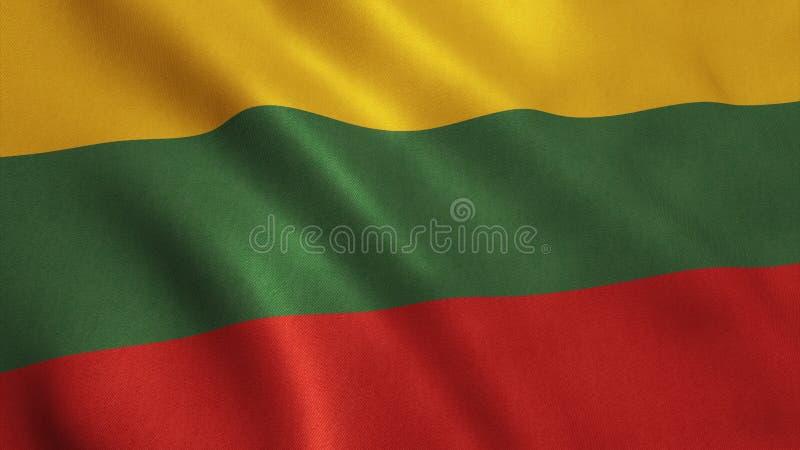 立陶宛旗子 皇族释放例证