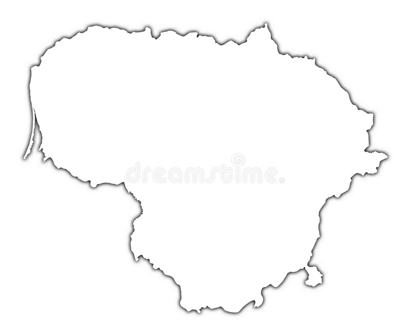 立陶宛映射分级显示 向量例证