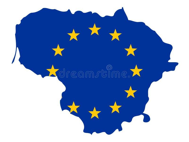 立陶宛映射 向量例证