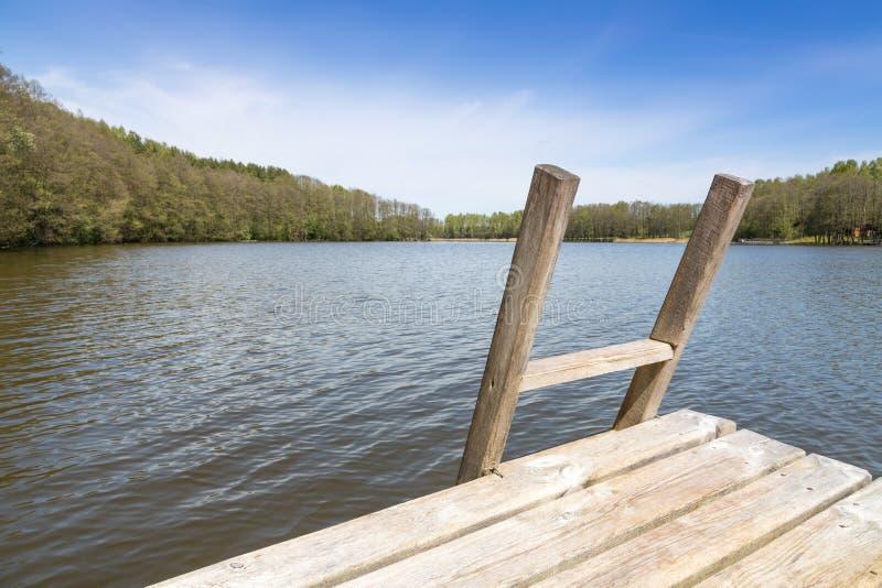 立陶宛的湖 库存照片
