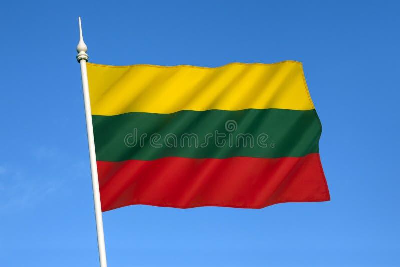 立陶宛-波罗的海国家旗子  免版税库存图片