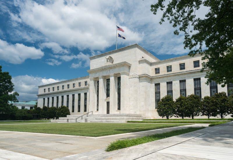 建立HQ华盛顿特区的美联储 免版税库存图片