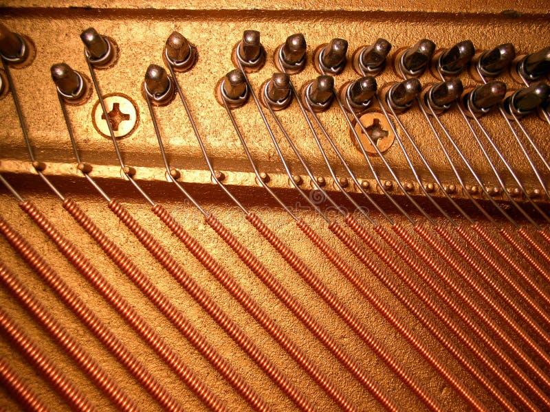 竖琴钢琴 免版税图库摄影