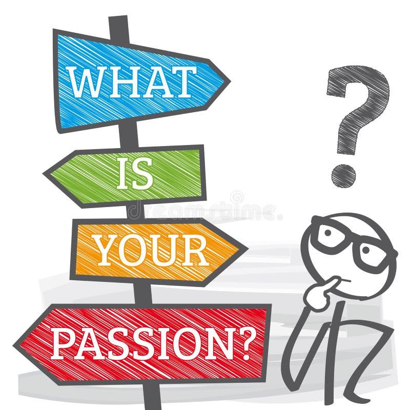 竖立路标生活计划-什么是您的激情illustratio 皇族释放例证