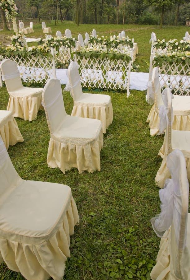 站点婚礼 免版税库存照片