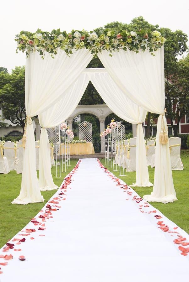 站点婚礼 免版税库存图片