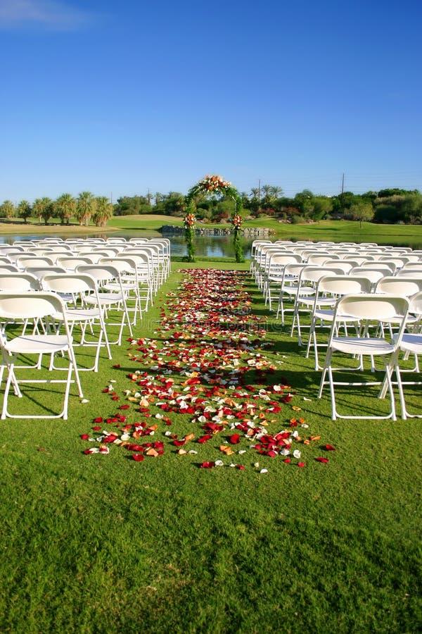 站点婚礼 库存照片