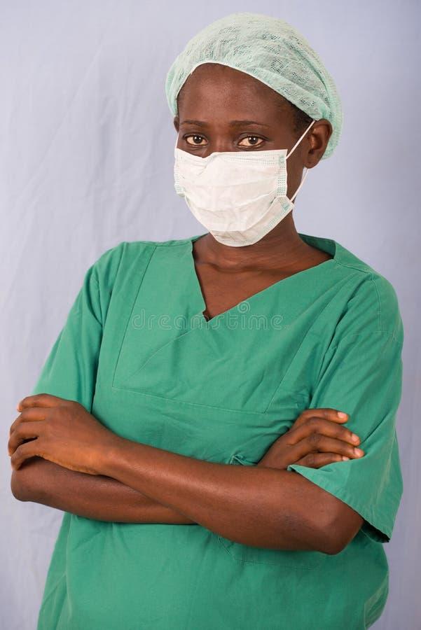 年轻女人医生的画象 图库摄影