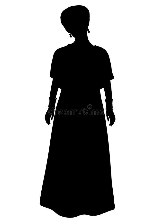 站立前方的非洲全国服装的女孩 皇族释放例证