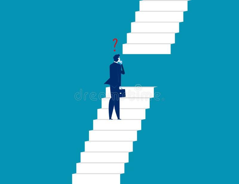 站立和看台阶的商人 概念企业传染媒介 皇族释放例证