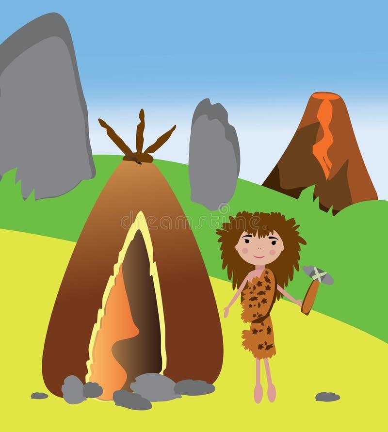 Download 站立在她的房子附近的原始妇女 库存例证. 插画 包括有 概念, 穴居人, 五颜六色, 女孩, 敬慕, 夹子 - 72371388