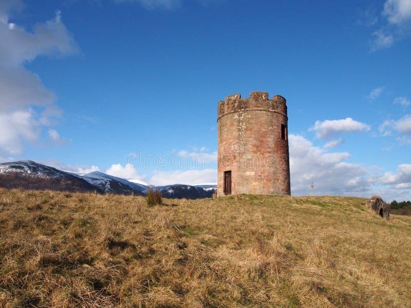 站立在小山的Craigbank塔 库存图片