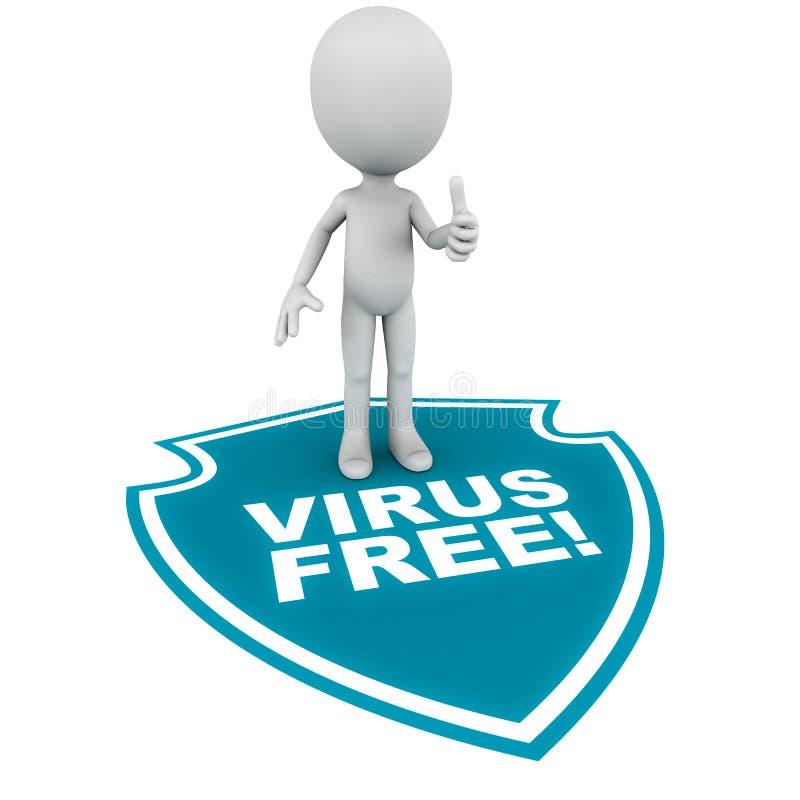 病毒释放 向量例证