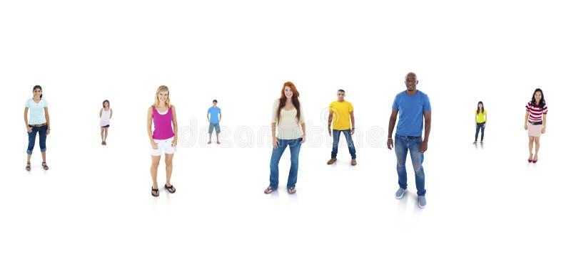 站立有白色背景的年轻成人 库存图片