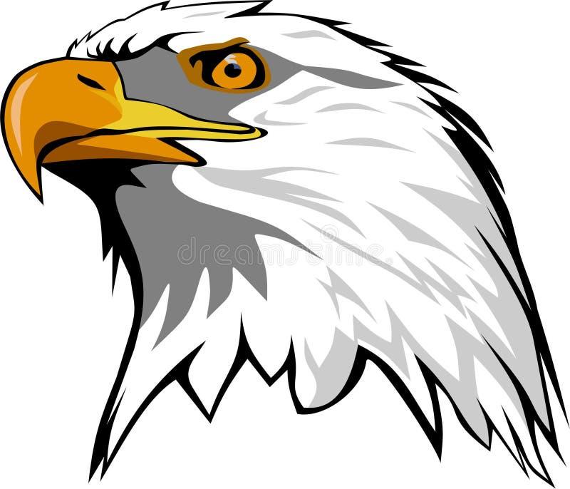 站起来接近的老鹰题头的立场 向量例证