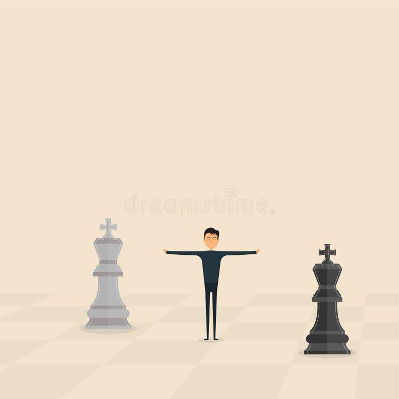 竞争、斡旋或者裁判员概念 企业营销stra 皇族释放例证
