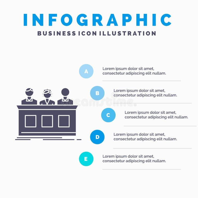竞争、比赛、专家、法官、陪审员Infographics模板网站的和介绍 r 向量例证
