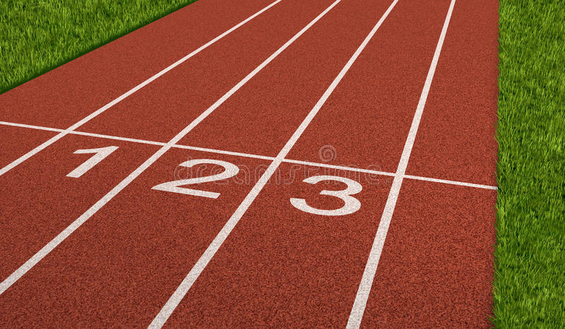竞争体育运动跟踪 库存例证