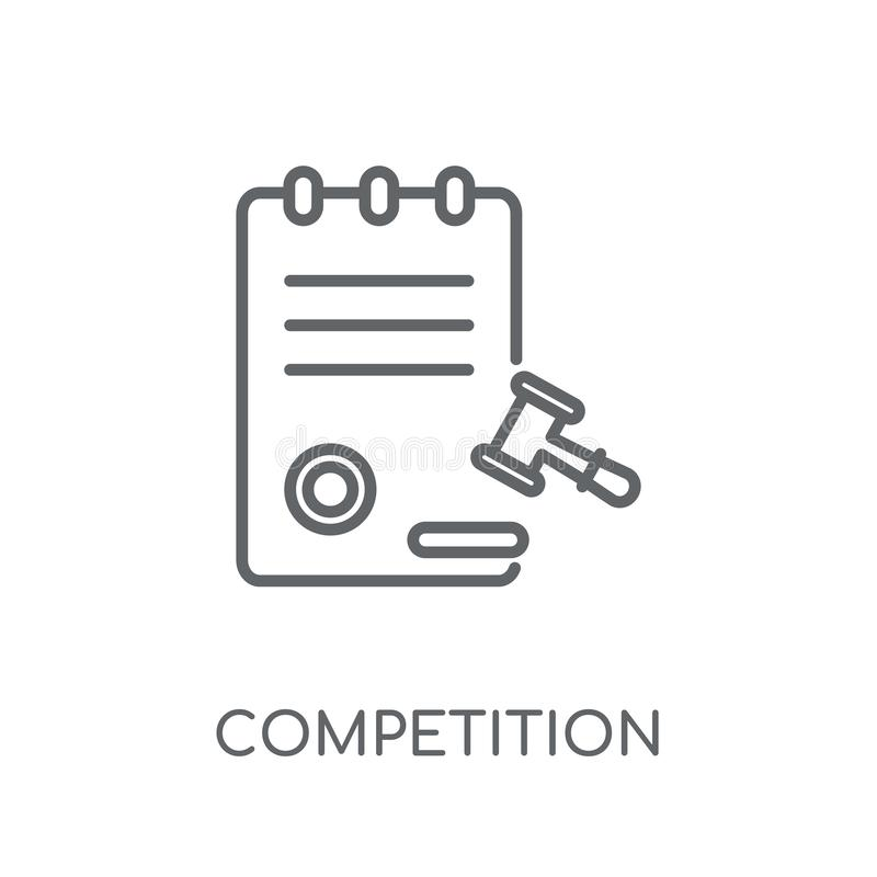 竞争委员会线性象 现代概述竞争C 皇族释放例证