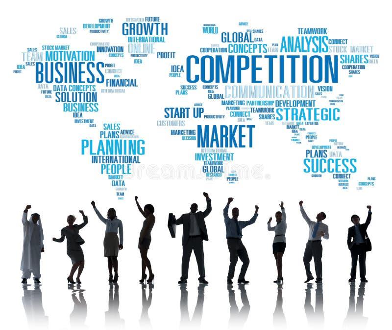 竞争市场全球性挑战比赛概念 向量例证