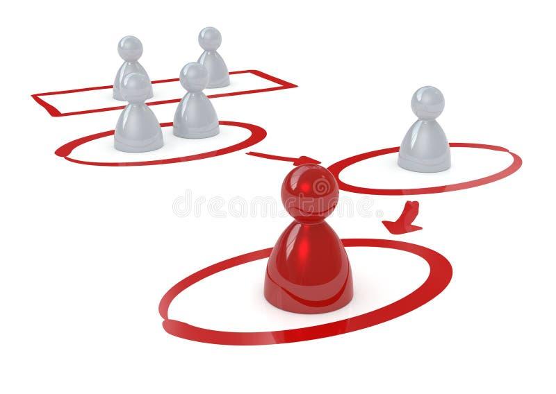 竞争的概念 向量例证