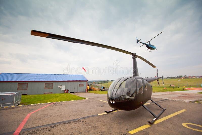 竞争直升机俄国体育运动 免版税库存图片