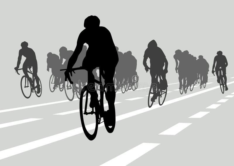 竞争骑自行车者 皇族释放例证