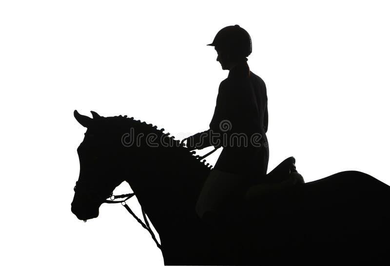 竞争骑马 向量例证