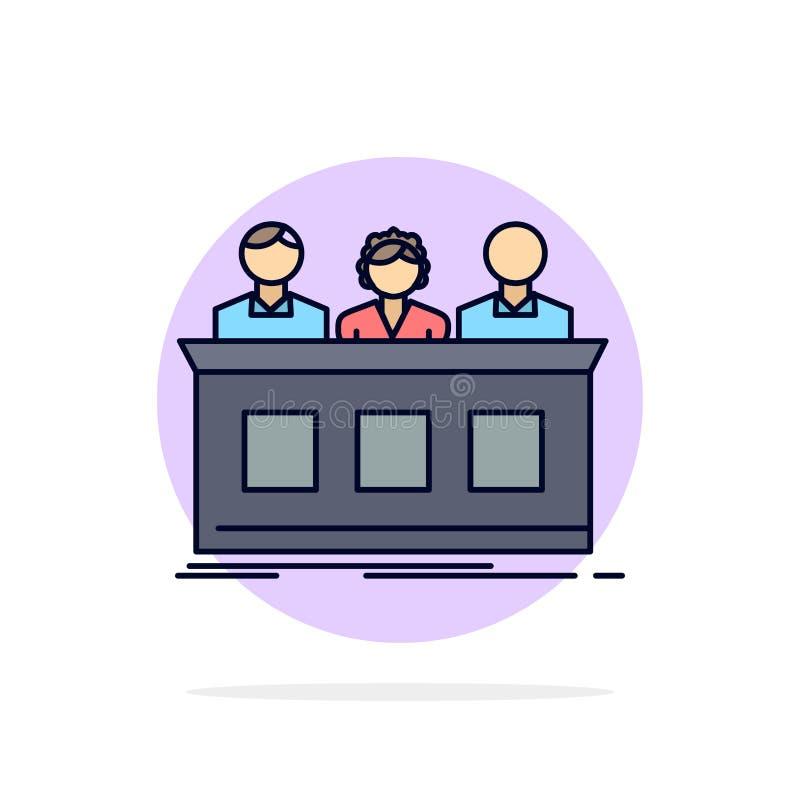 竞争,比赛,专家,法官,陪审团平的颜色象传染媒介 库存例证