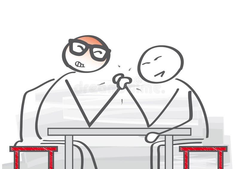 竞争-胳膊搏斗 皇族释放例证