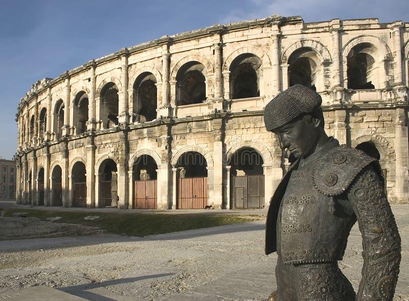 竞技场欧洲法国mes n罗马的尼姆 库存照片