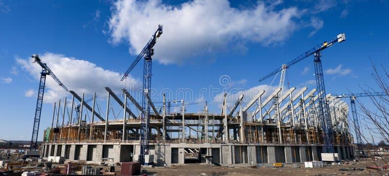 竞技场波儿地克的建筑工地 库存图片