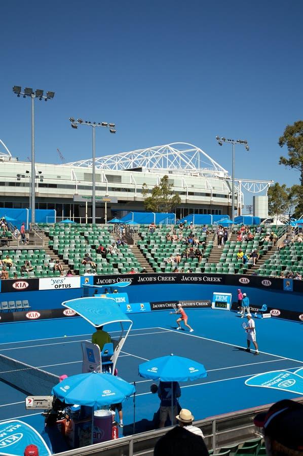 竞技场澳大利亚现场开放标尺网球 库存图片