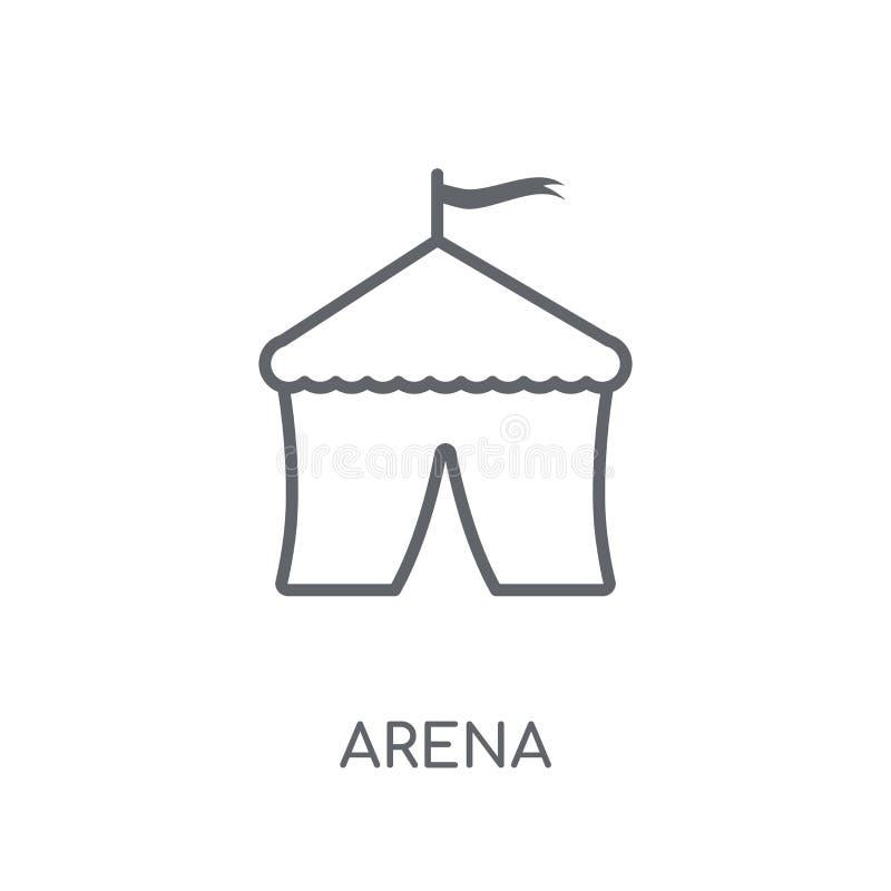 竞技场线性象 在白色ba的现代概述竞技场商标概念 皇族释放例证