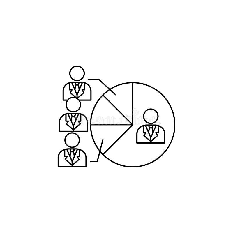 竞选总统者象的饼 竞选象的元素 优质质量图形设计 标志和标志汇集象 向量例证