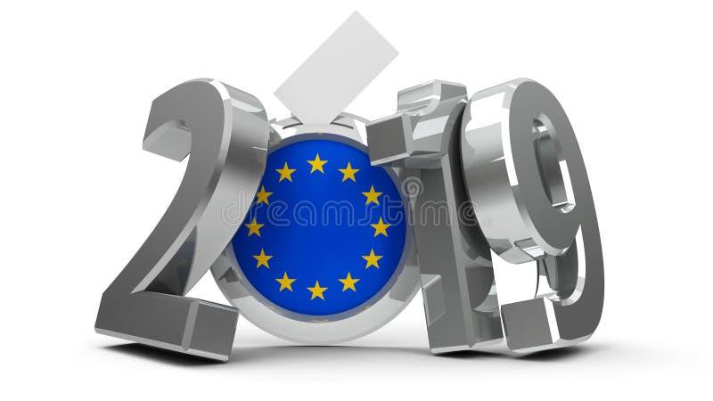竞选欧洲议会2019年 库存例证