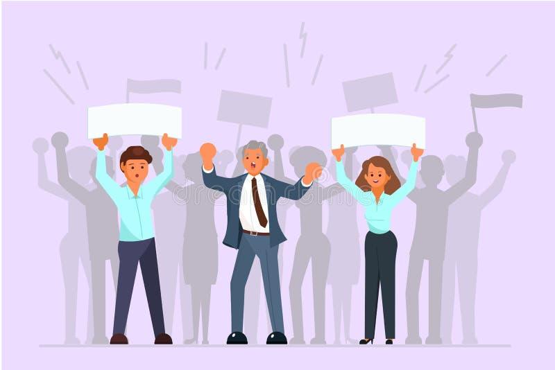 竞选活动和鼓动传染媒介平的例证 库存例证