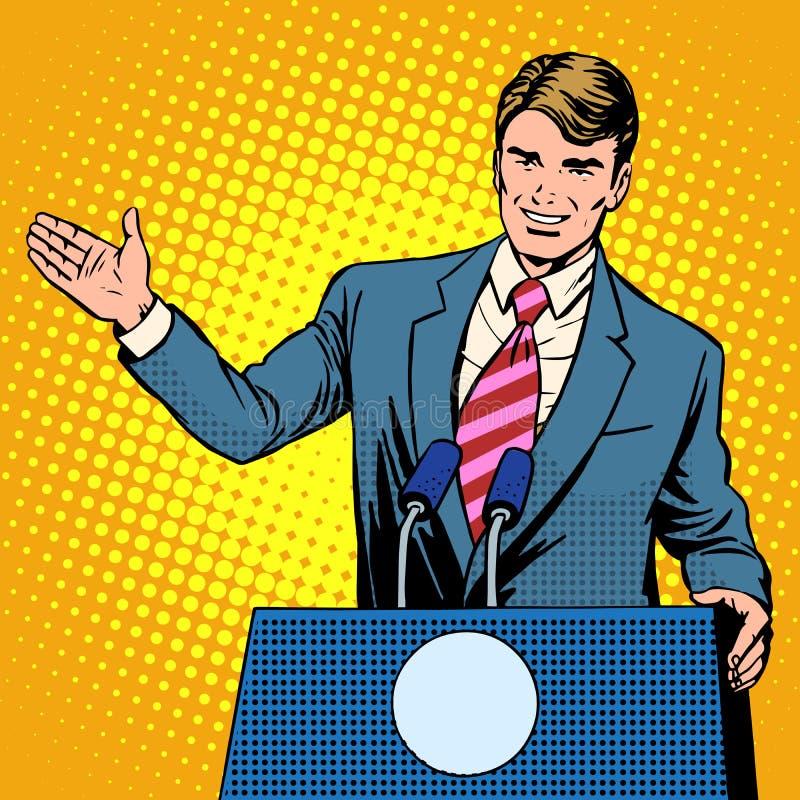 竞选的政策候选人 皇族释放例证