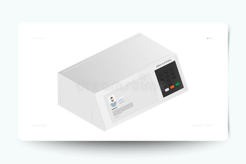 竞选的缸电子在等量样式 平的传染媒介例证EPS 10 皇族释放例证