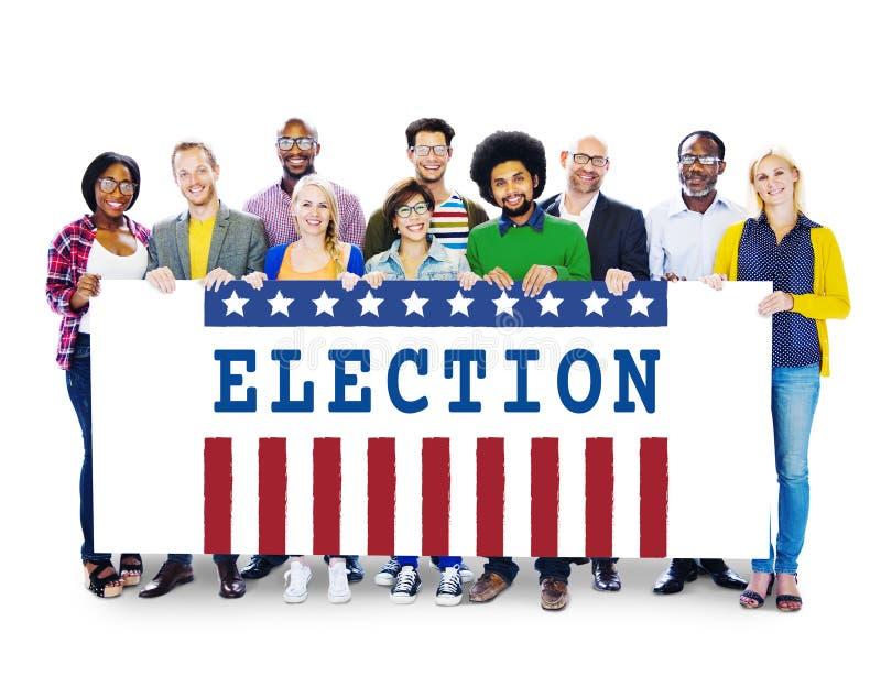 竞选表决民主公民投票图表概念 库存照片