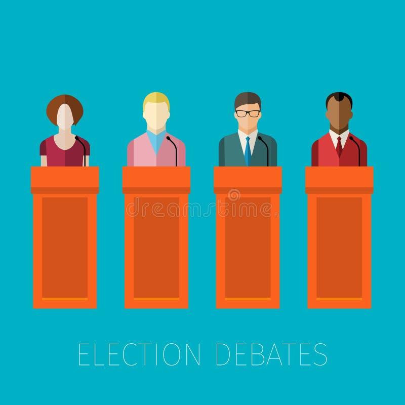 Download 竞选辩论的概念 向量例证. 插画 包括有 辩论, 字符, 概念, 人员, 外交官, 通信, 信息, 政府 - 72362716