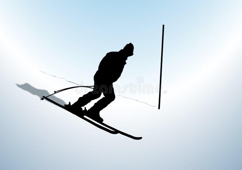 竟赛者滑雪 皇族释放例证
