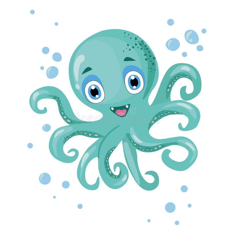 章鱼与光的传染媒介图象 库存照片