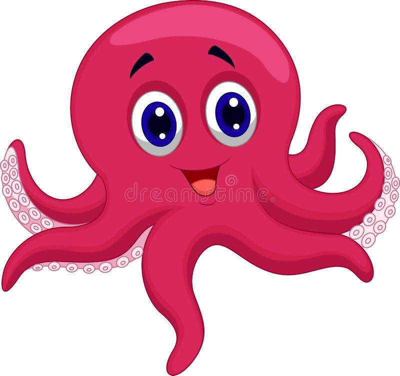 章鱼动画片 向量例证