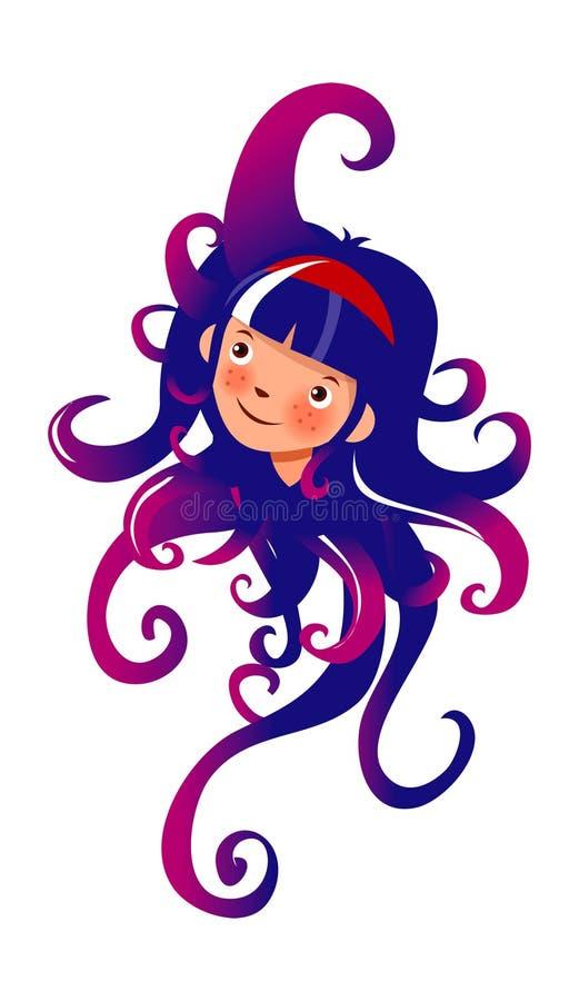 章鱼妇女 向量例证