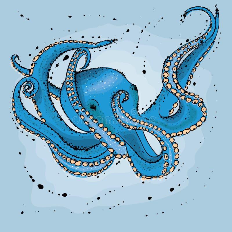 章鱼 向量例证