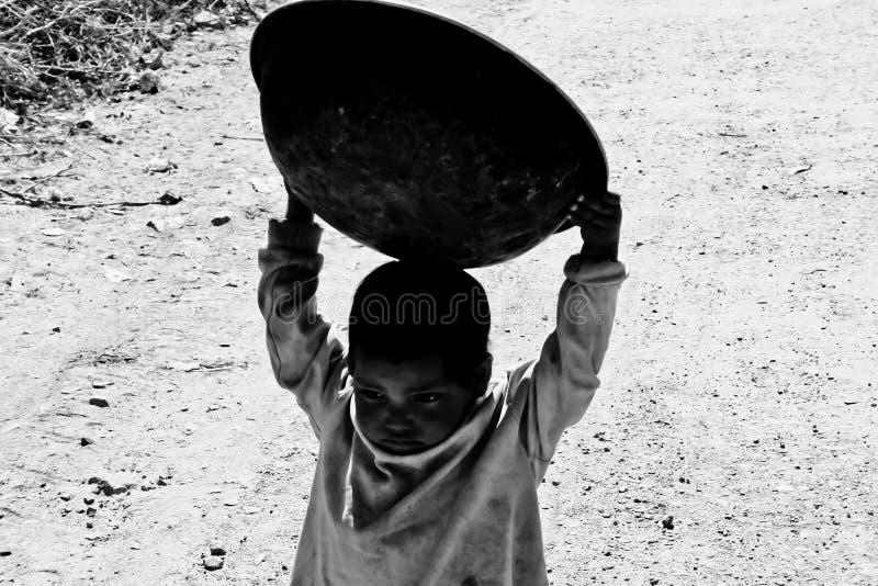 童工在印度 免版税库存照片